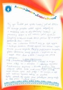 Agnieszka Pasternakiewicz podziękowania